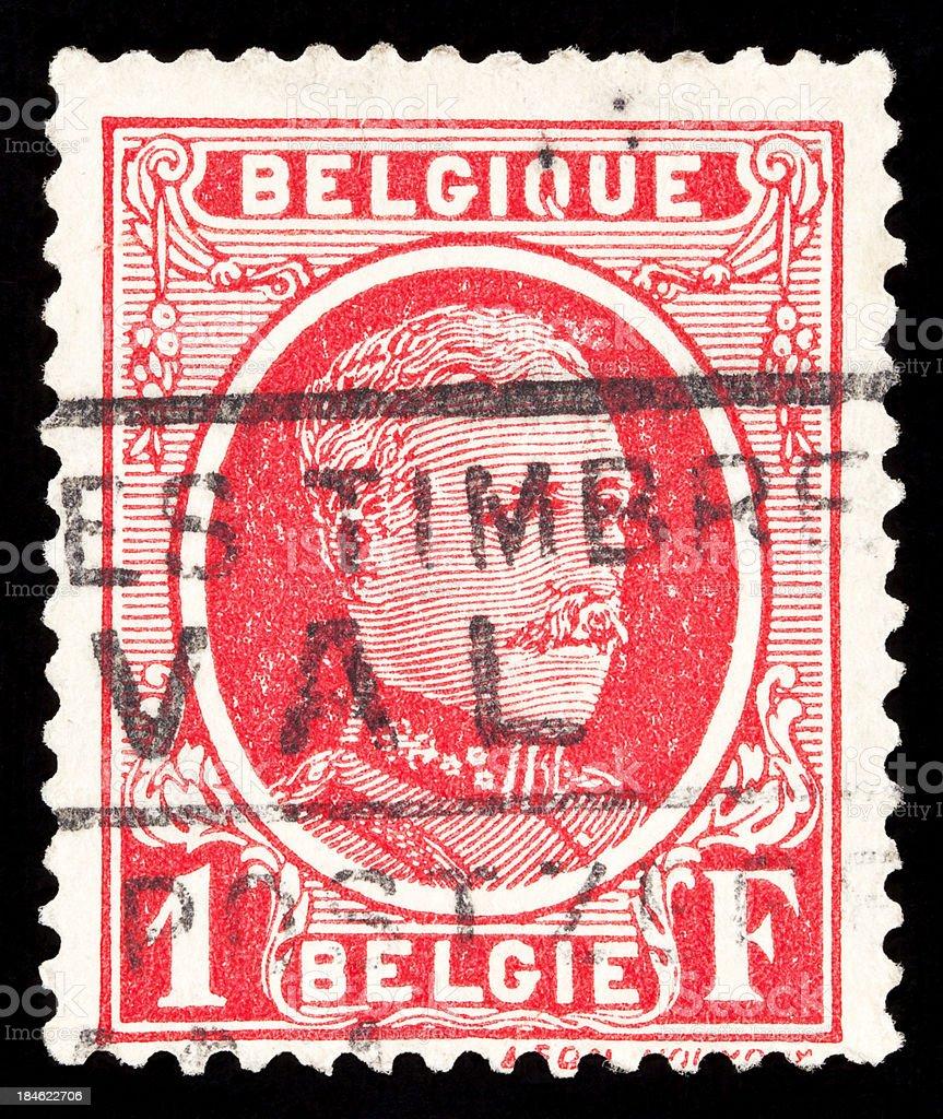 Belgium Postage stamp stock photo