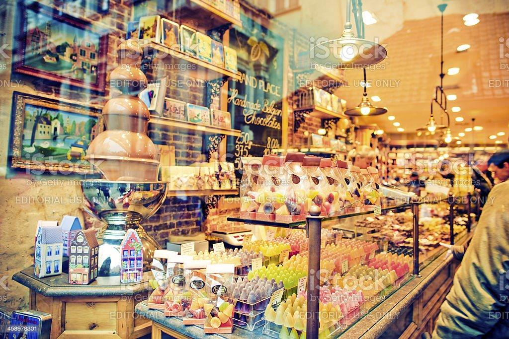 Belgium sweets stock photo