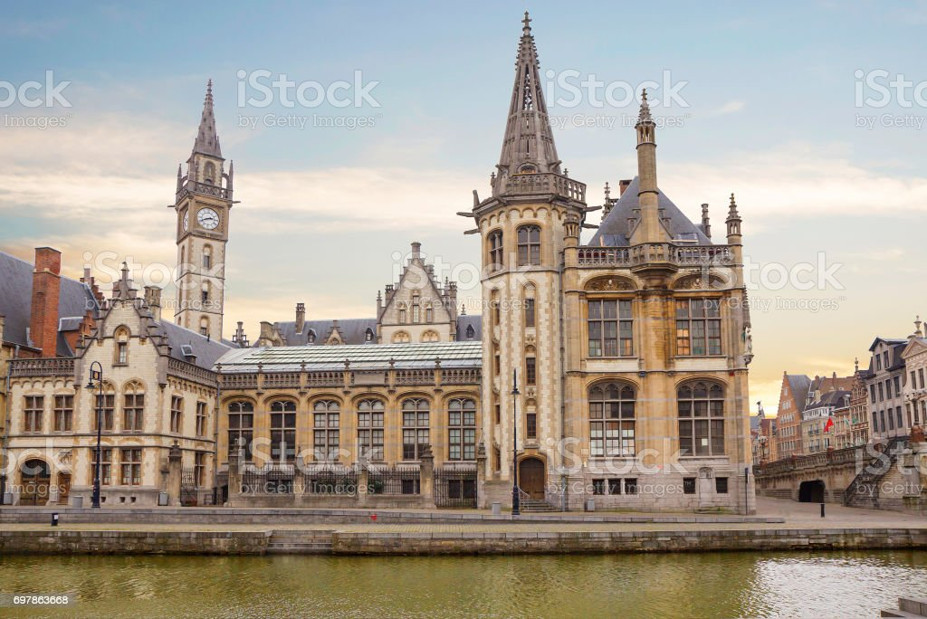 Belgium. The post office of Ghent stock photo