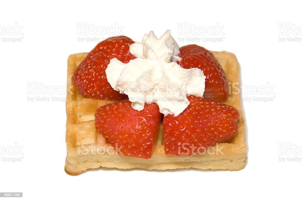 waffle Belga foto de stock royalty-free