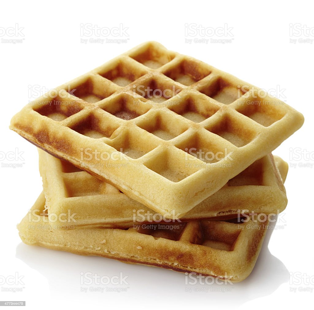 Belgium waffles stock photo