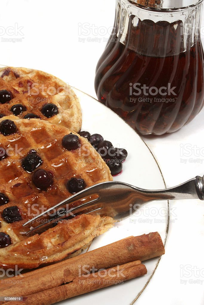 Belgium waffles royalty-free stock photo