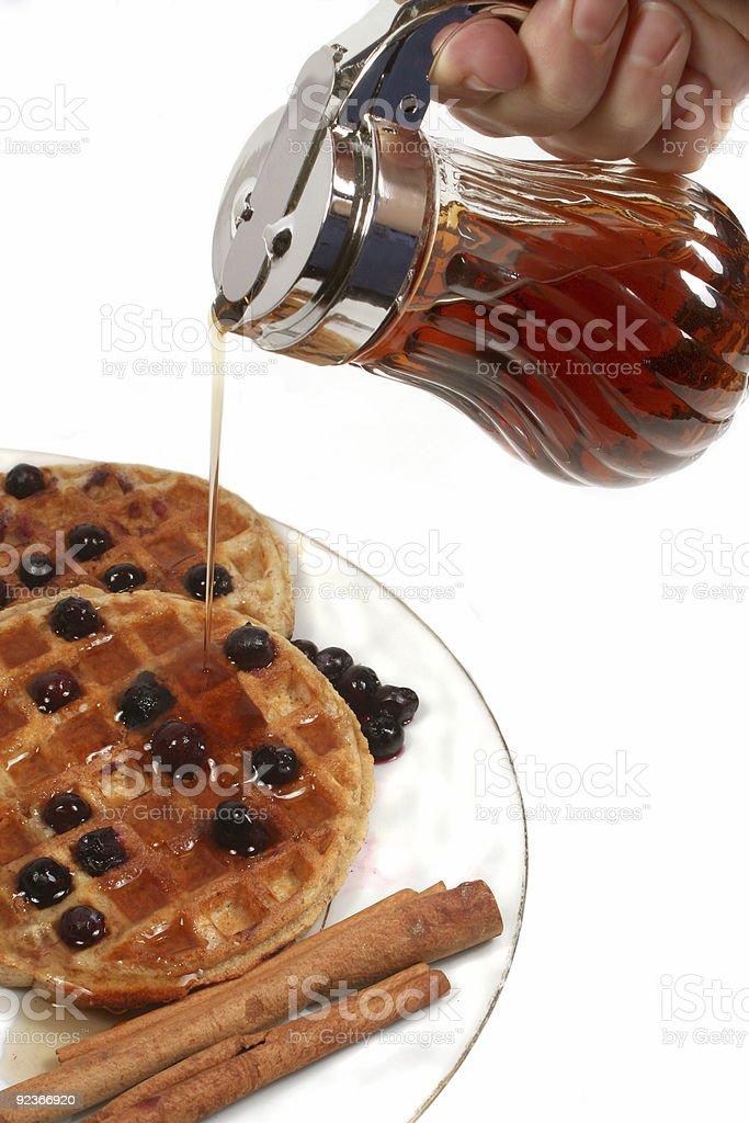 Belgium waffles royalty-free stock photo