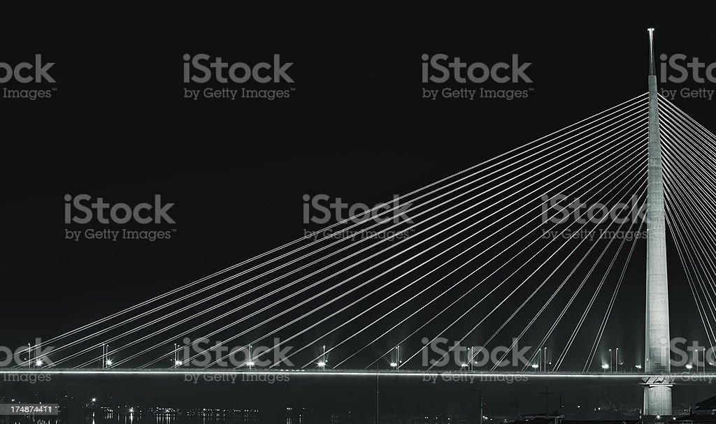 Belgrade Ada Bridge royalty-free stock photo
