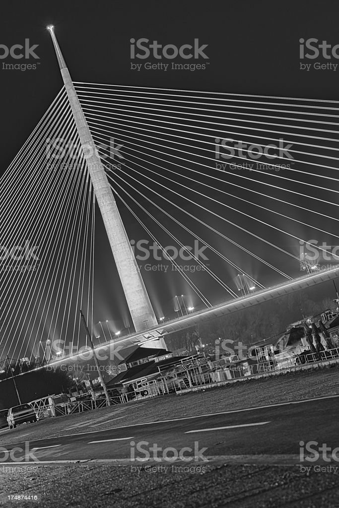 Belgrade Ada Bridge royalty-free stock photo