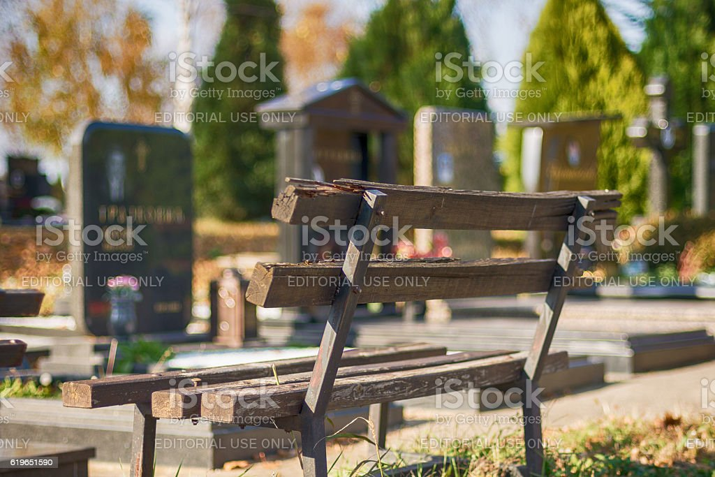 Belgrade cemetery 'Lešće' in Serbia stock photo