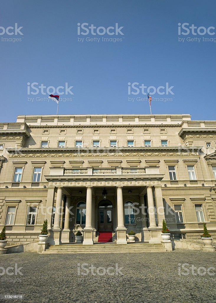 Belgrade's Official Mayor House royalty-free stock photo