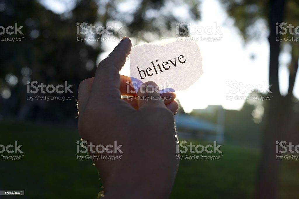 Belief concept. Believe in yourself. royalty-free stock photo