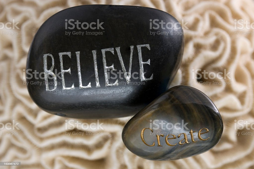 Believe and Creat royalty-free stock photo
