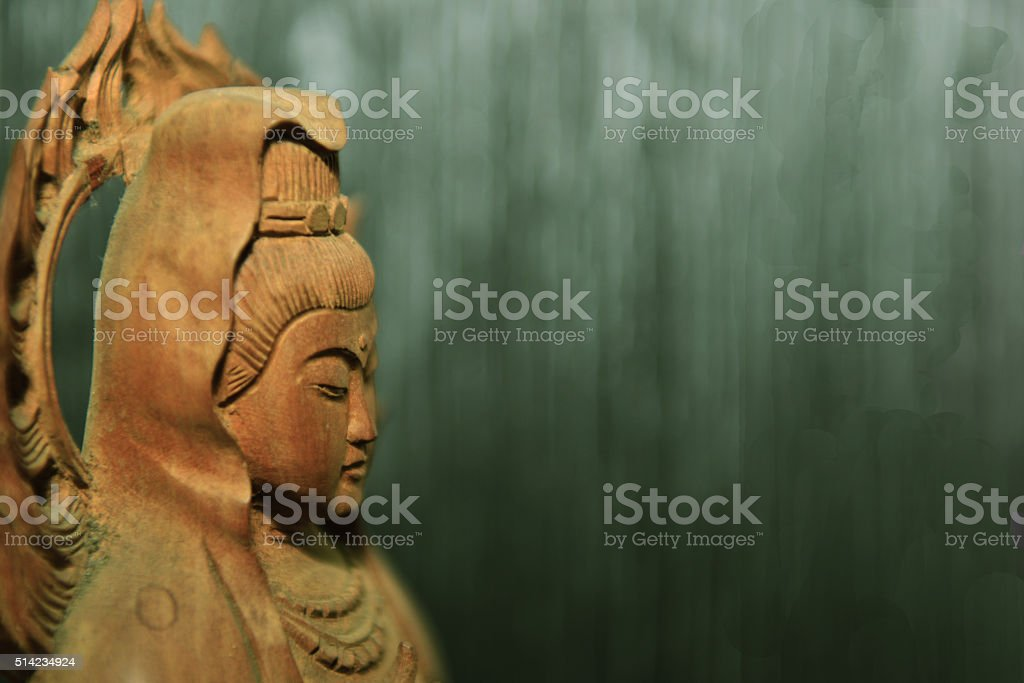 I believe in Guanyin stock photo