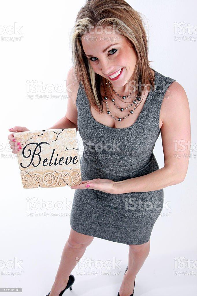 Creo en U foto de stock libre de derechos