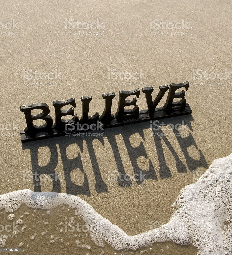 believe letters royalty-free stock photo