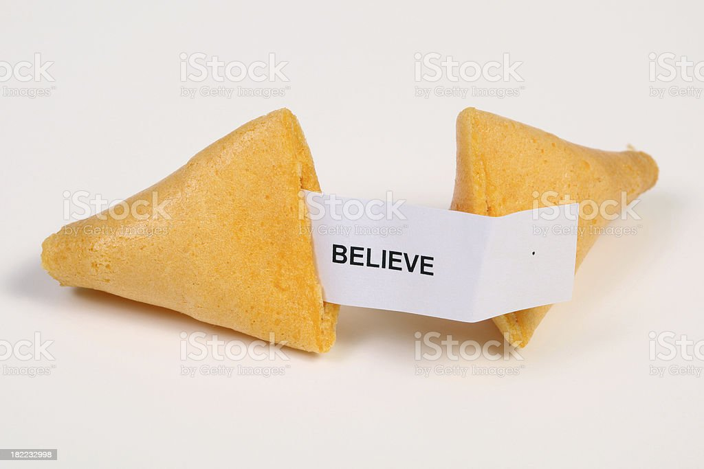 Believe royalty-free stock photo