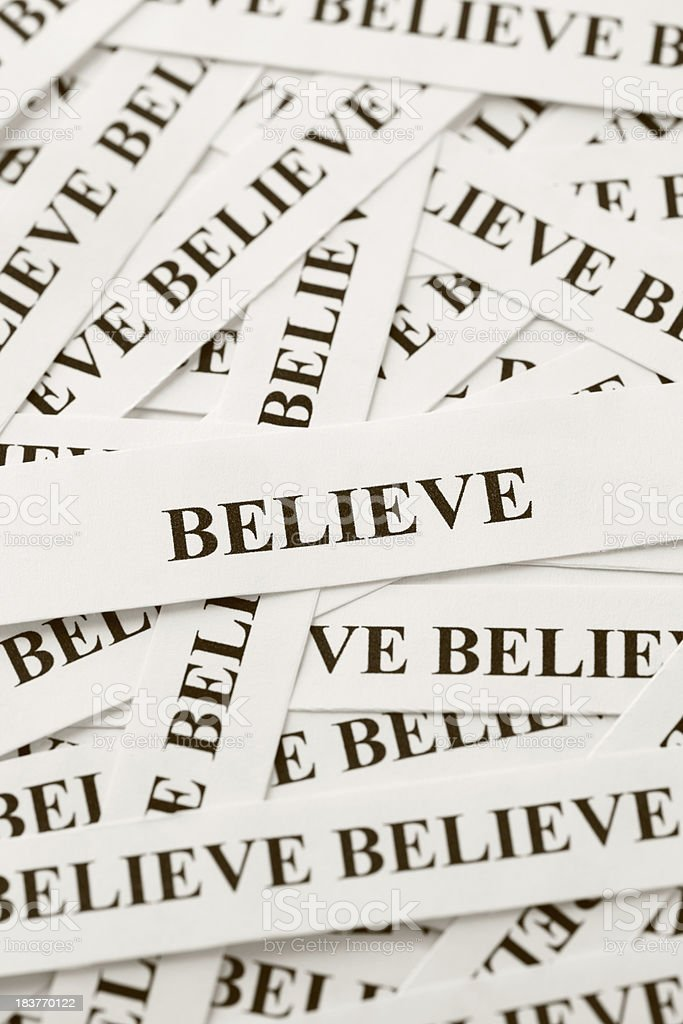 Believe (Sepia) royalty-free stock photo