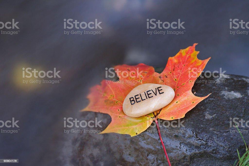 Believe royalty-free stock photo