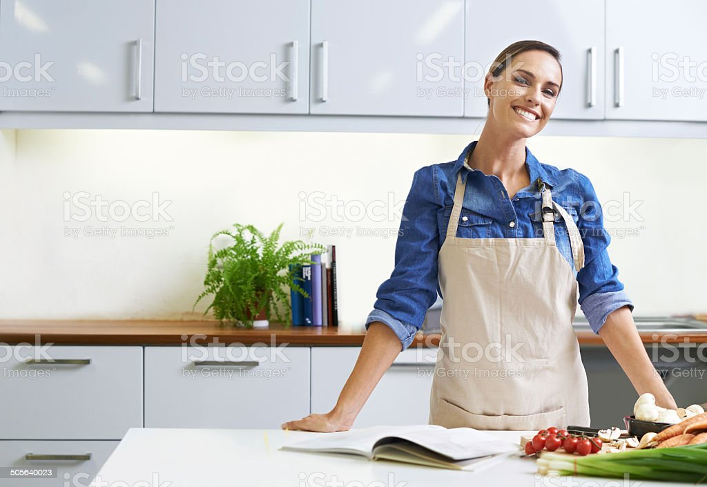 I believe that a home-cooked meal is best stock photo