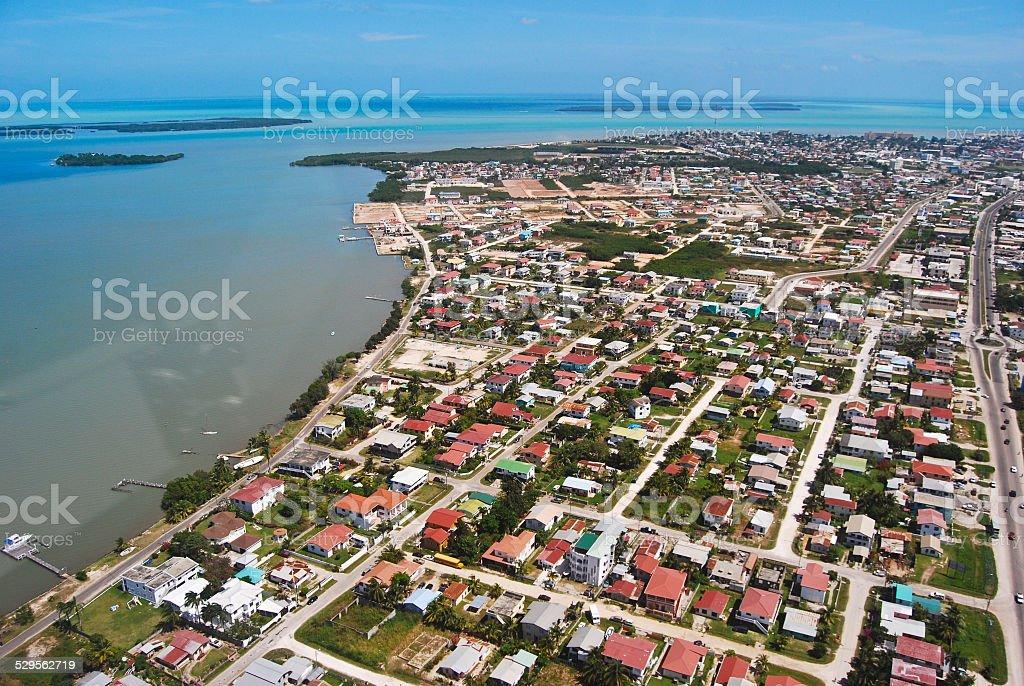 Belize City Aerial stock photo