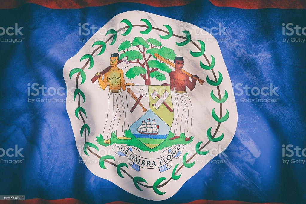 Belize flag waving stock photo