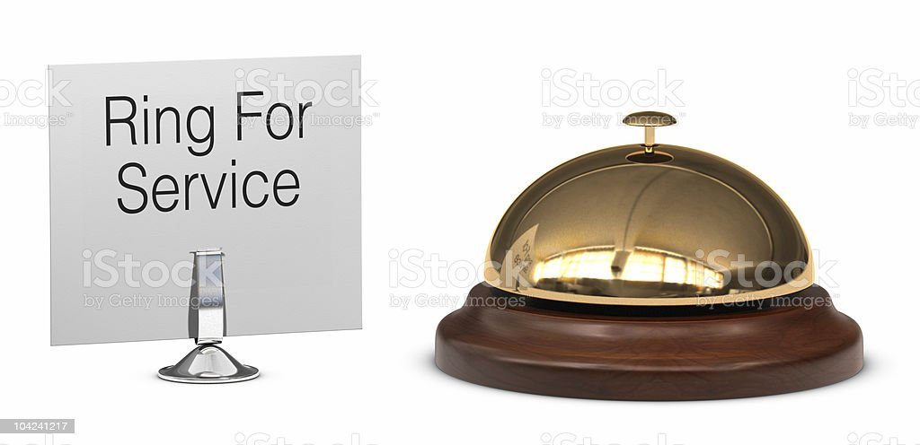 A bell and a ring for service sign royalty-free stock photo