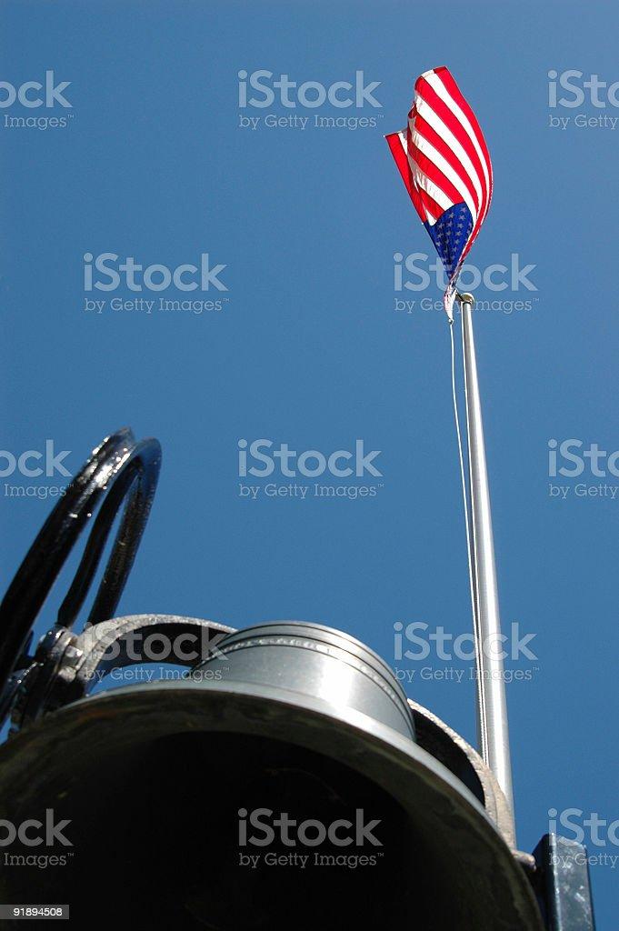 Пурпурный и флаг Стоковые фото Стоковая фотография