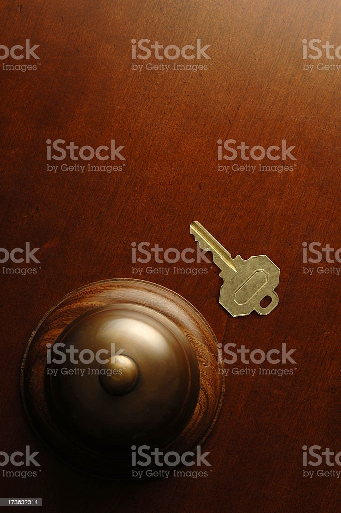 Bell and Key royalty-free stock photo