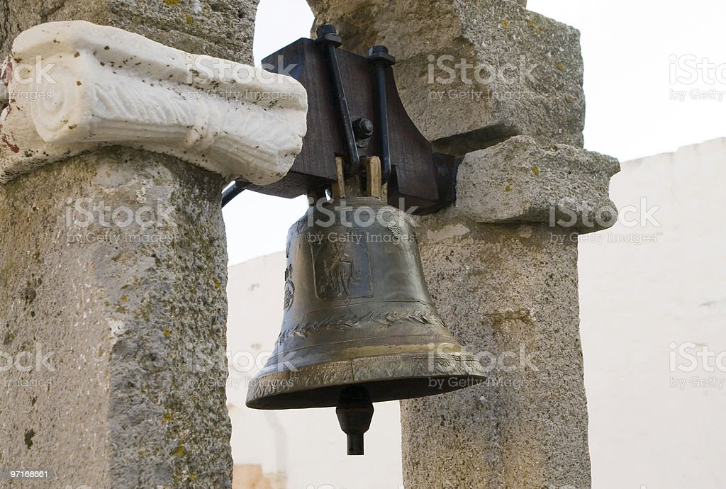Bell at Monestary of St. John the Theologian royalty-free stock photo