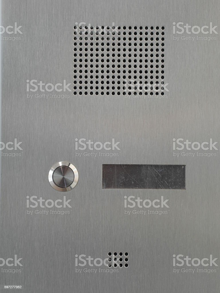 bell entry phone stock photo