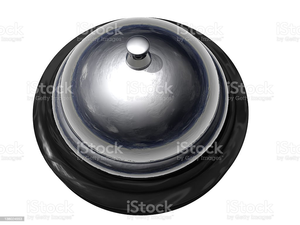 Bell for Servicing!-4 of 4 (Isolated White) stock photo