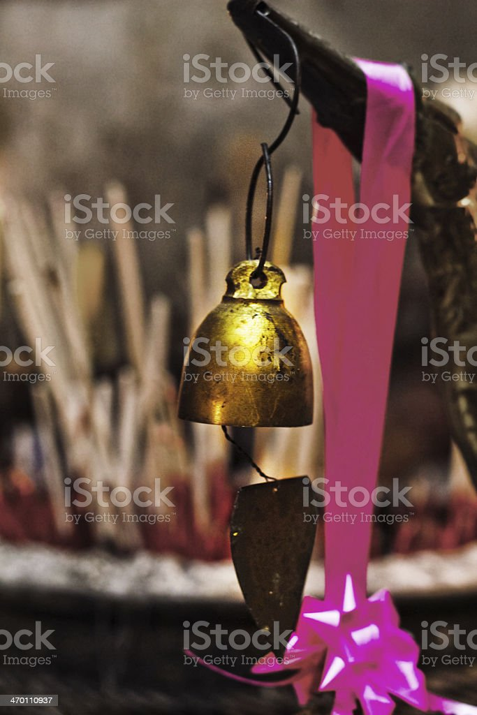 bell in chiang mai temple royalty-free stock photo