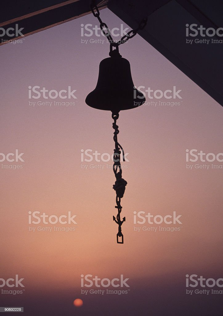 Bell in evening stock photo