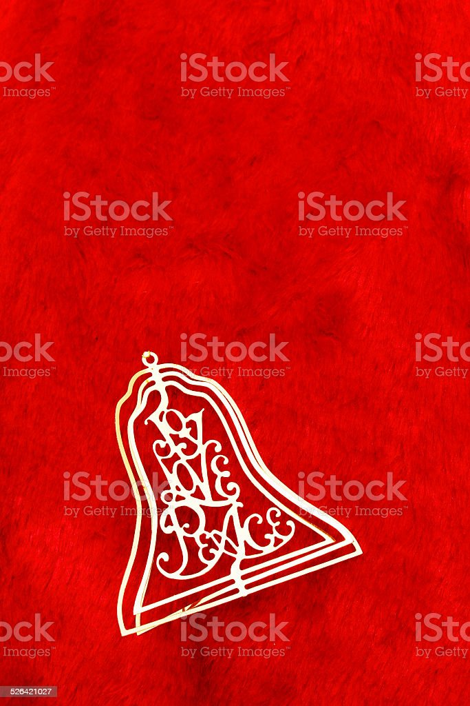 Bell in red stock photo