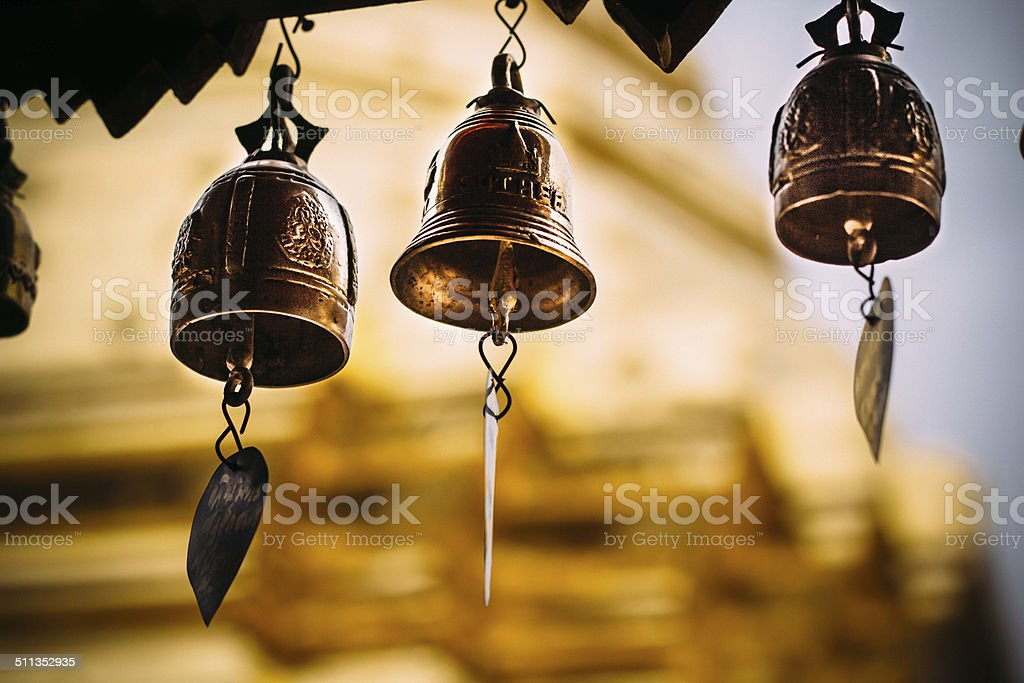 Bell in Tample stock photo