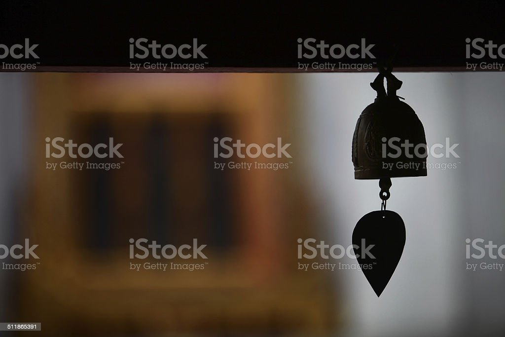 Bell in Temple stock photo