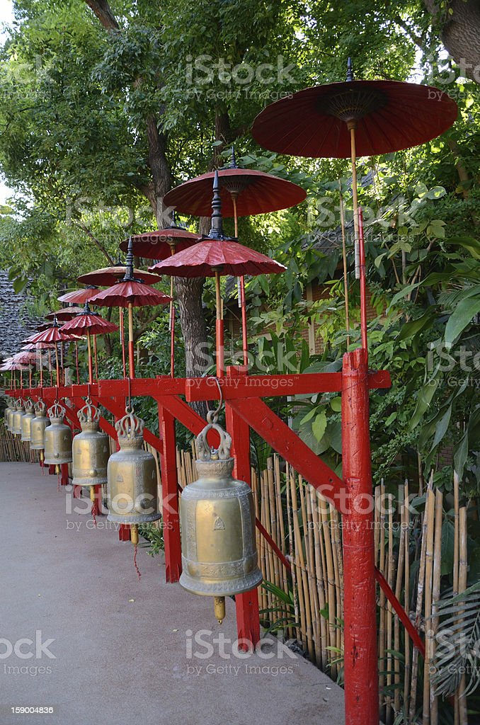 bell in thai temple royalty-free stock photo