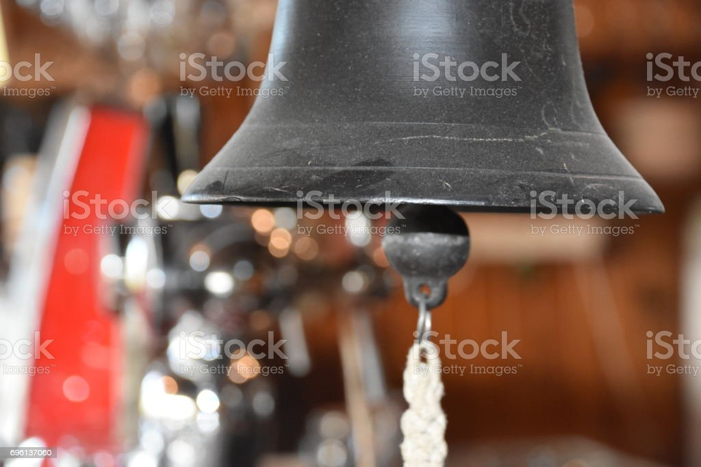 A bell in the bar stock photo