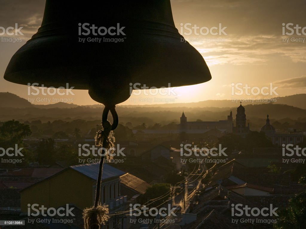 Bell in the Sunset royalty-free stock photo