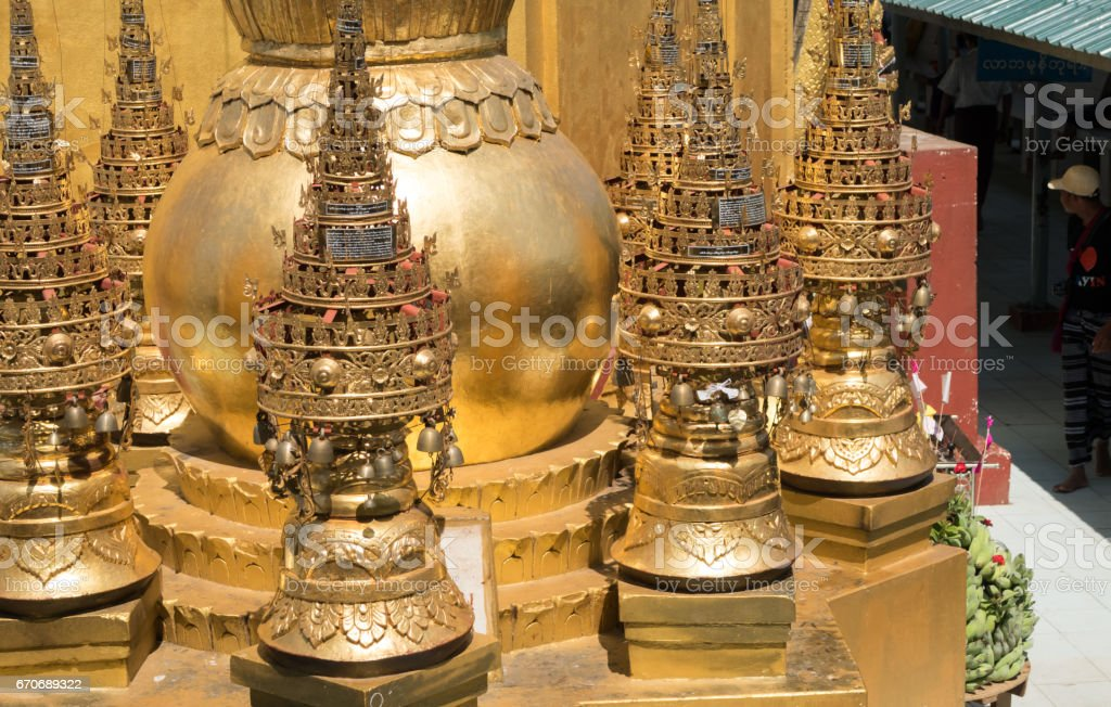 Bell in the temple, Myanmar stock photo