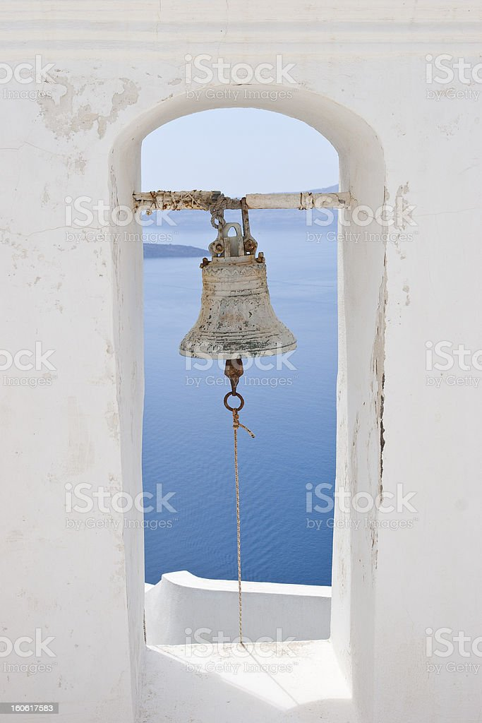 Bell of a greek church royalty-free stock photo