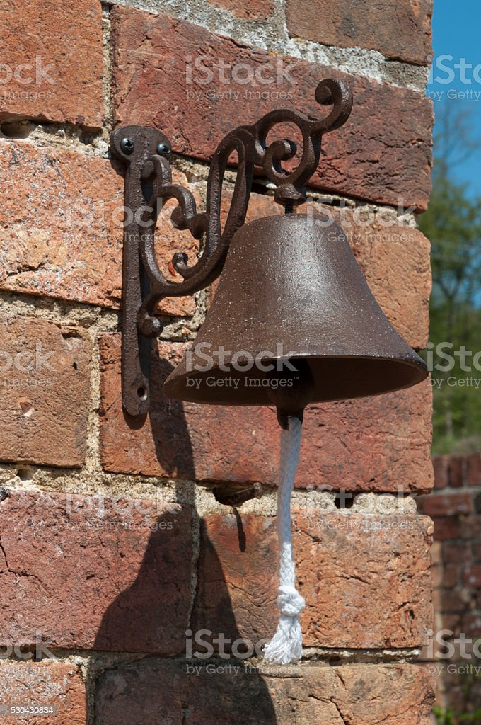 Bell on a Wall stock photo