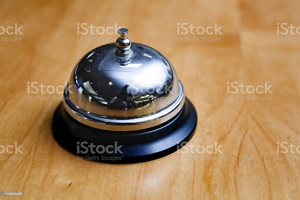 Bell on reception desk royalty-free stock photo