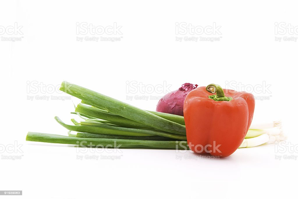 Bell pepper and onions royalty-free stock photo