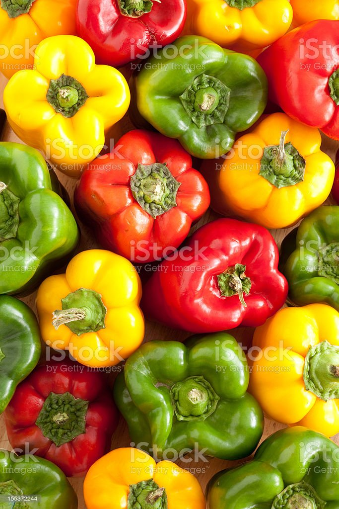 Bell peppers background stock photo