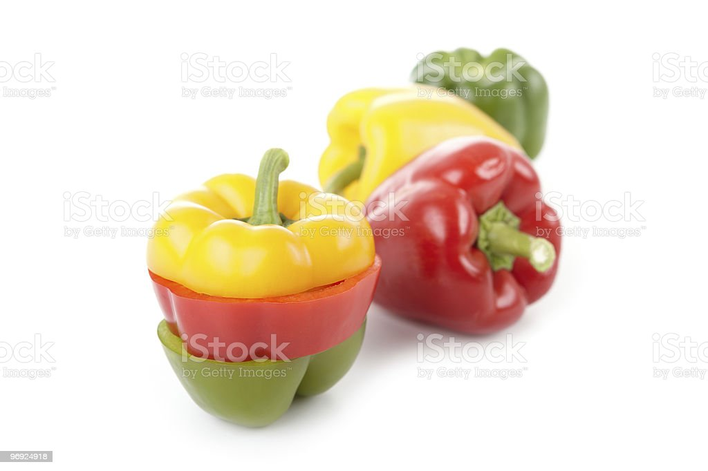 Bell Peppers (XXL) royalty-free stock photo