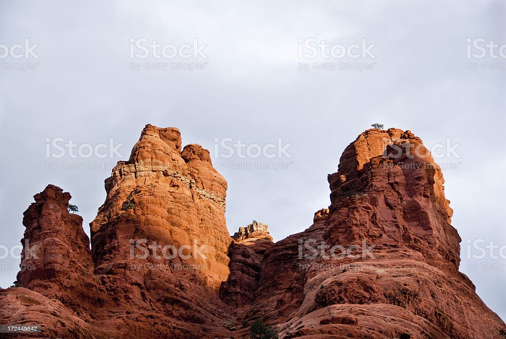 Bell Rock at Sunset royalty-free stock photo