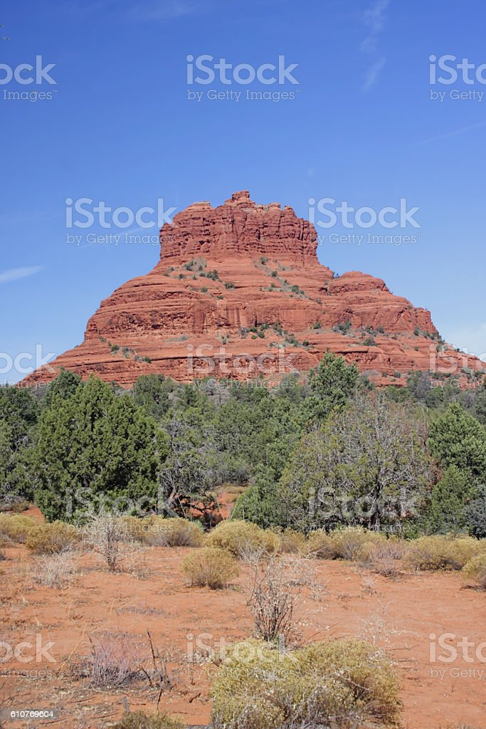 Bell Rock in Sedona Arizona stock photo