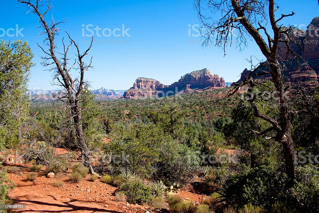 Bell Rock trail in Sedona, Arizona stock photo