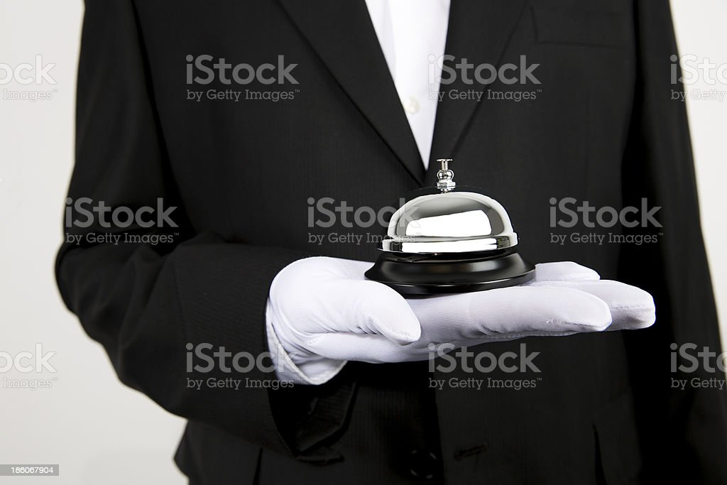 Bell Serving stock photo