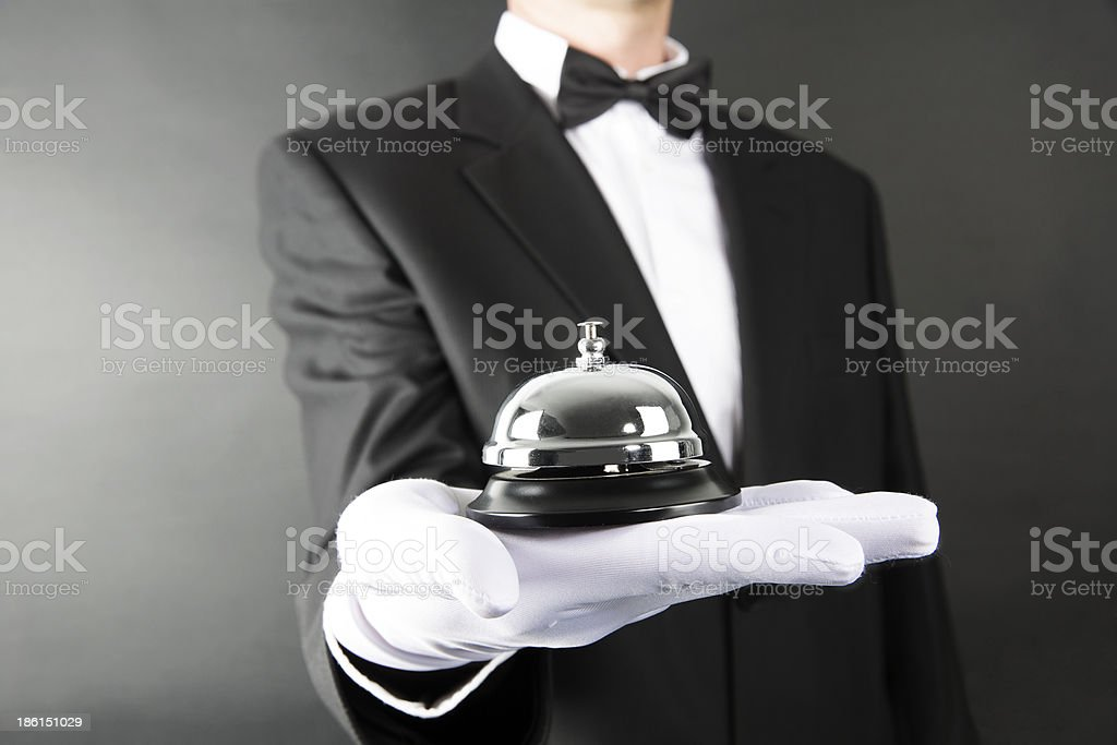 Bell Serving royalty-free stock photo