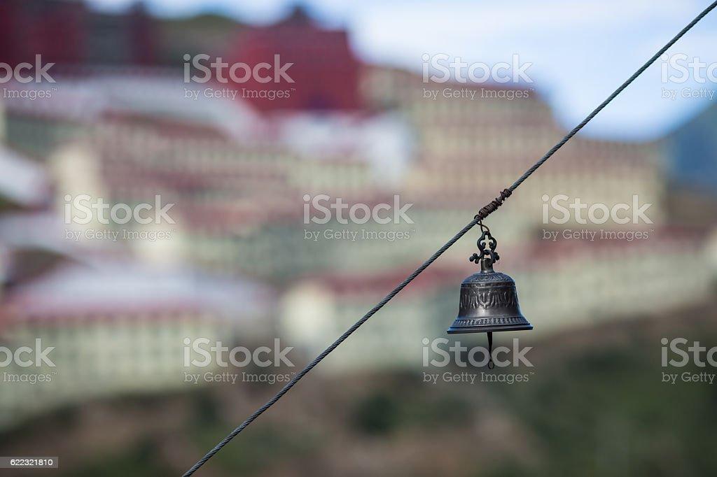 Bell, temples, Tibet stock photo
