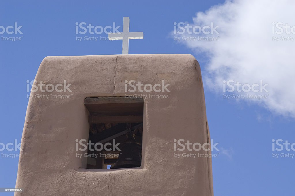 Bell Tower and Cross stock photo